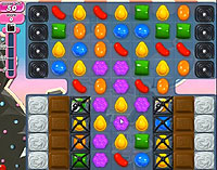 Candy Crush Saga Level 107 game
