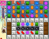 Candy Crush Saga Level 123 game