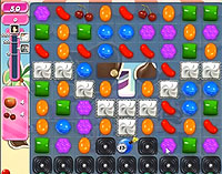 Candy Crush Saga Level 124 game
