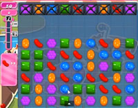 Candy Crush Saga Level 128 game