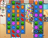 Candy Crush Saga Level 158 game