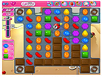 Candy Crush Saga Level 165 game