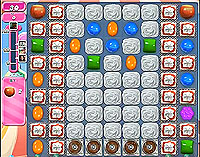 Candy Crush Saga Level 185 game